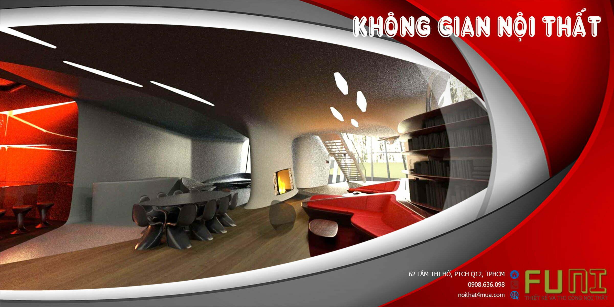Thiết kế không gian nội thất thoáng mát