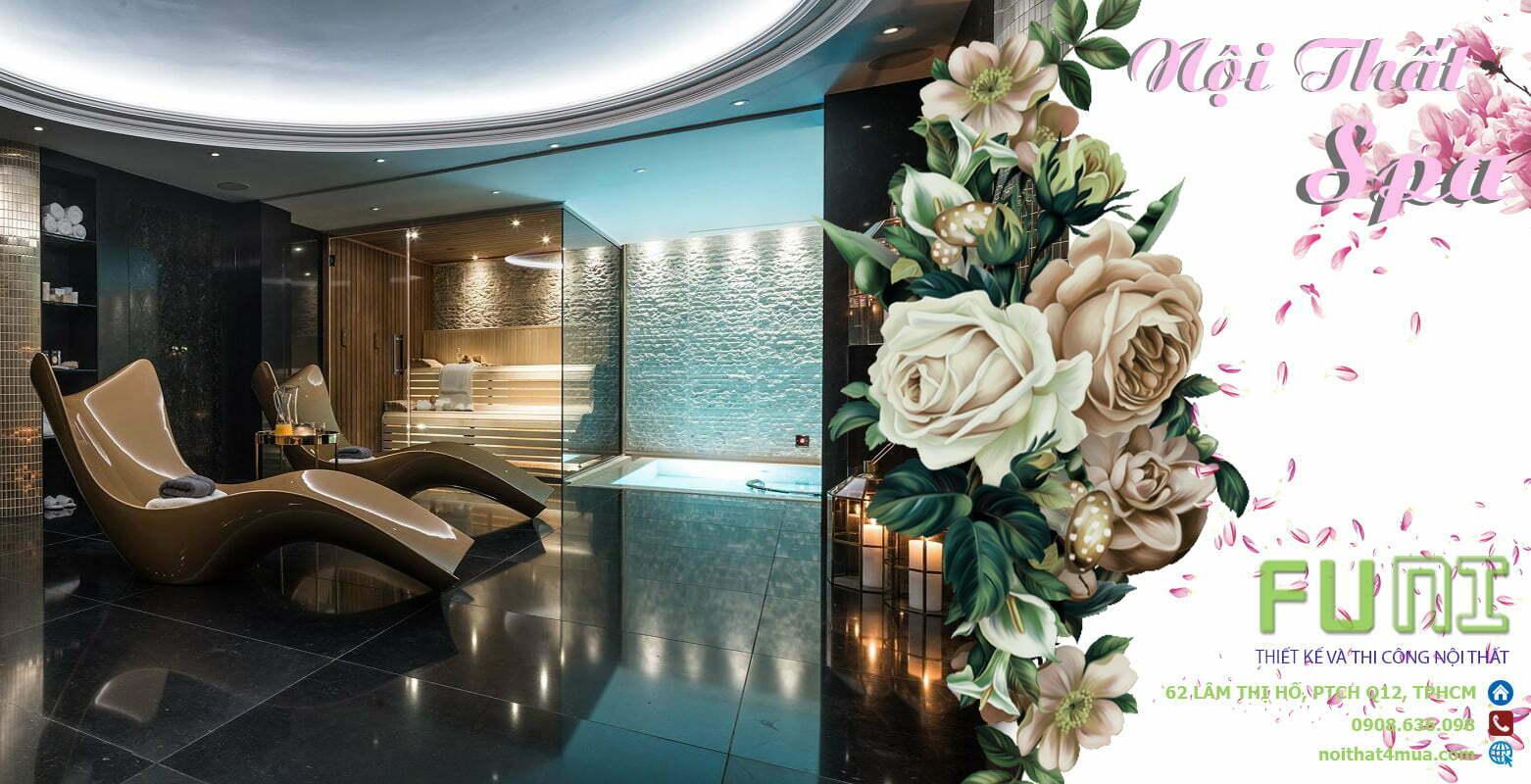 Thiết kế spa chuyên nghiệp đẹp ấn tượng
