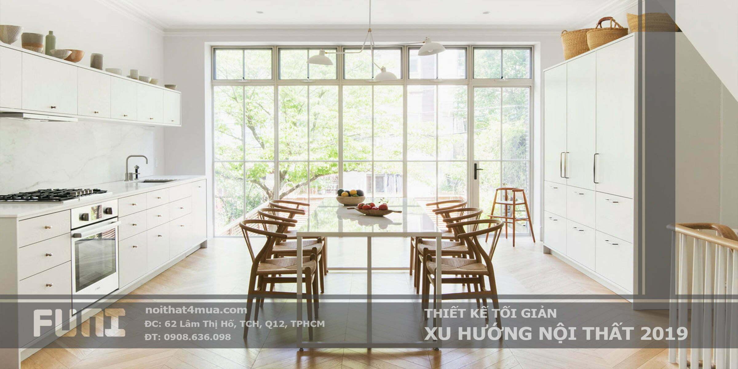 Thiết kế tối giản xu hướng nội thất 2019