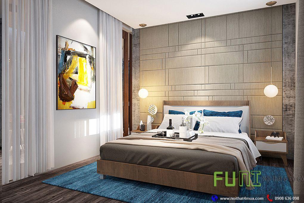 Thiết kế phòng ngủ căn hộ nhỏ đơn giản dẹp