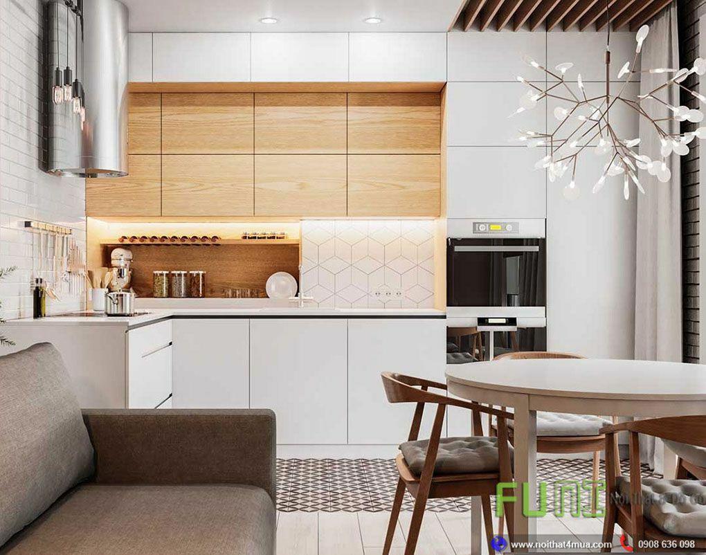 Thiết kế nội thất phòng bếp căn hộ 45m2