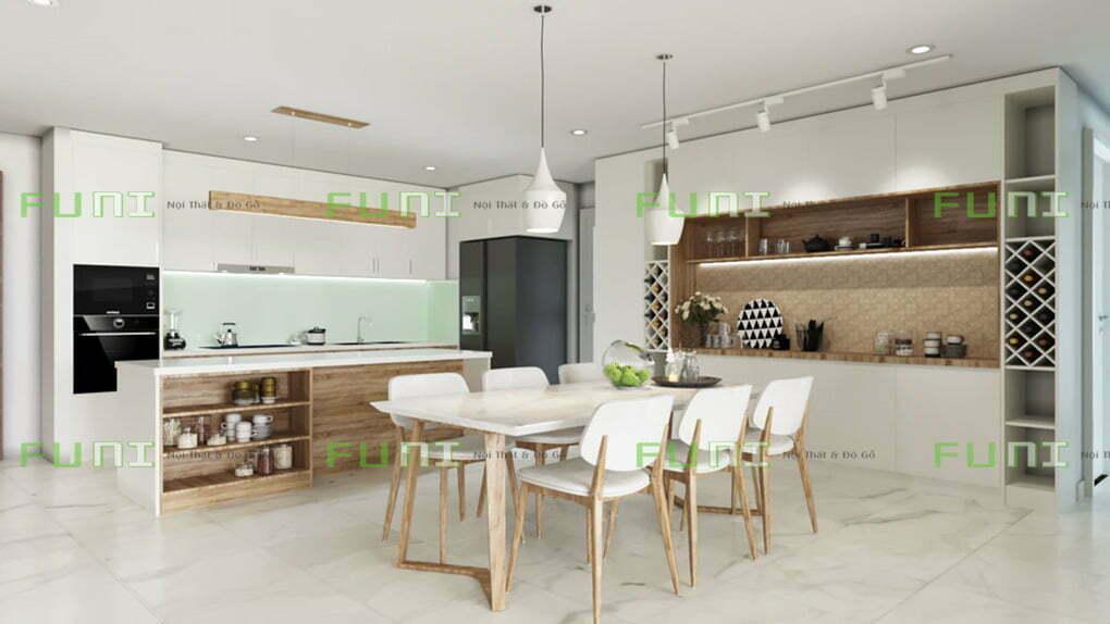 Mẫu thiết kế nội thất nhà bếp đẹp