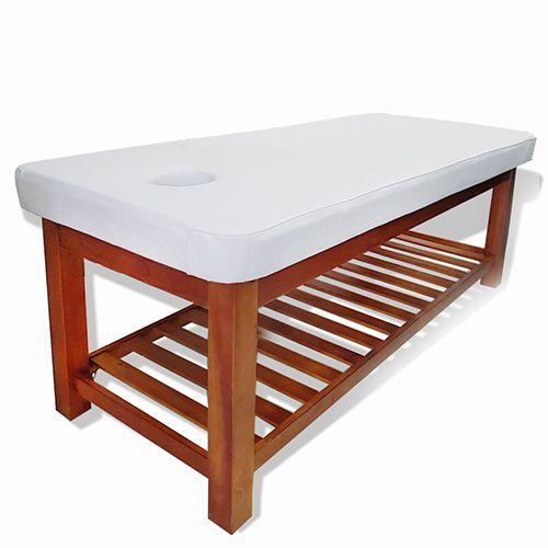 Giường massage gỗ sồi màu cánh gián
