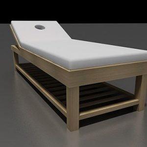 Giường gỗ thông nâng đầu đẹp
