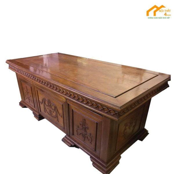 Bàn giám đốc gỗ Hương 2m1x1m cao cấp