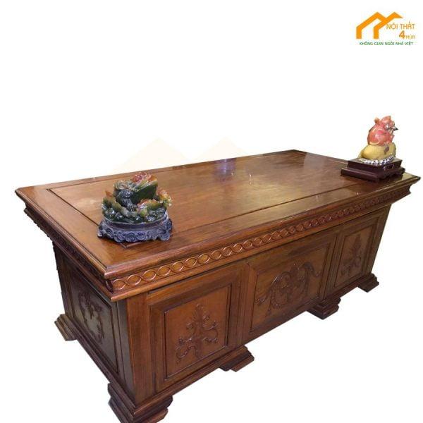 Bàn giám đốc gỗ Hương cao cấp