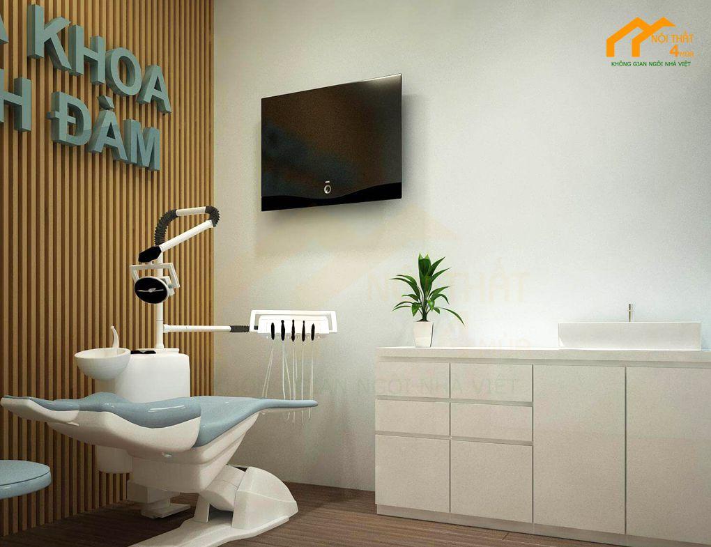 Mẫu tủ lavabo phòng nha khoa cao cấp
