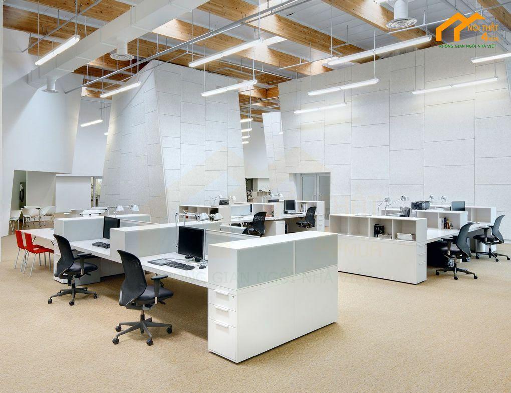 Mẫu thiết kế văn phòng làm việc nhân viên đẹp