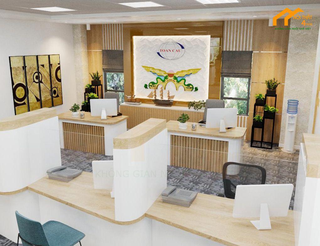 Mẫu thiết kế văn phòng 60m2 đẹp hiện đại