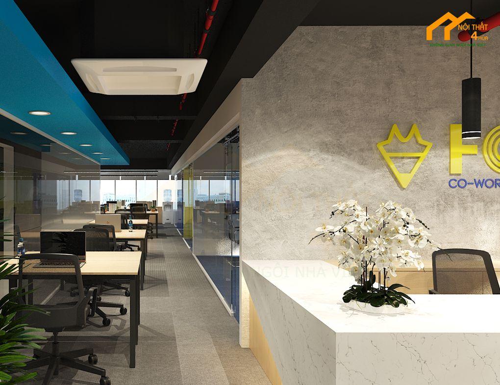 Thiết kế hành lang văn phòng làm việc