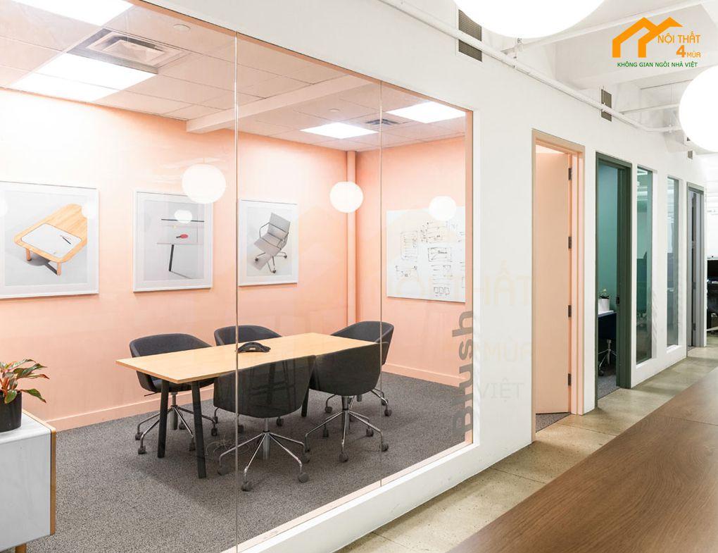 Thiết kế phòng họp văn phòng công ty Poppin HQ