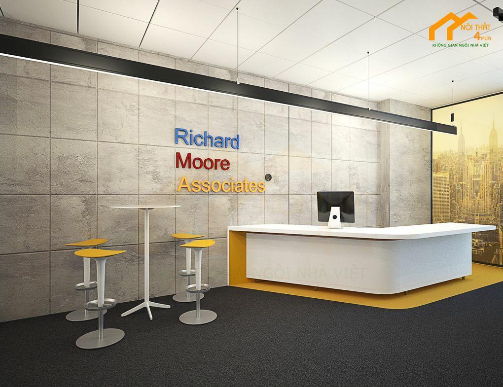 Thiết kế sảnh văn phòng công ty đẹp