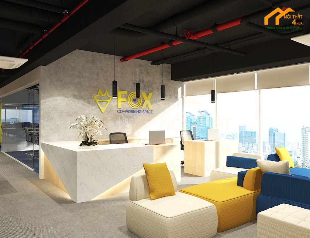 Mẫu thiết kế văn phòng đẹp hiện đại