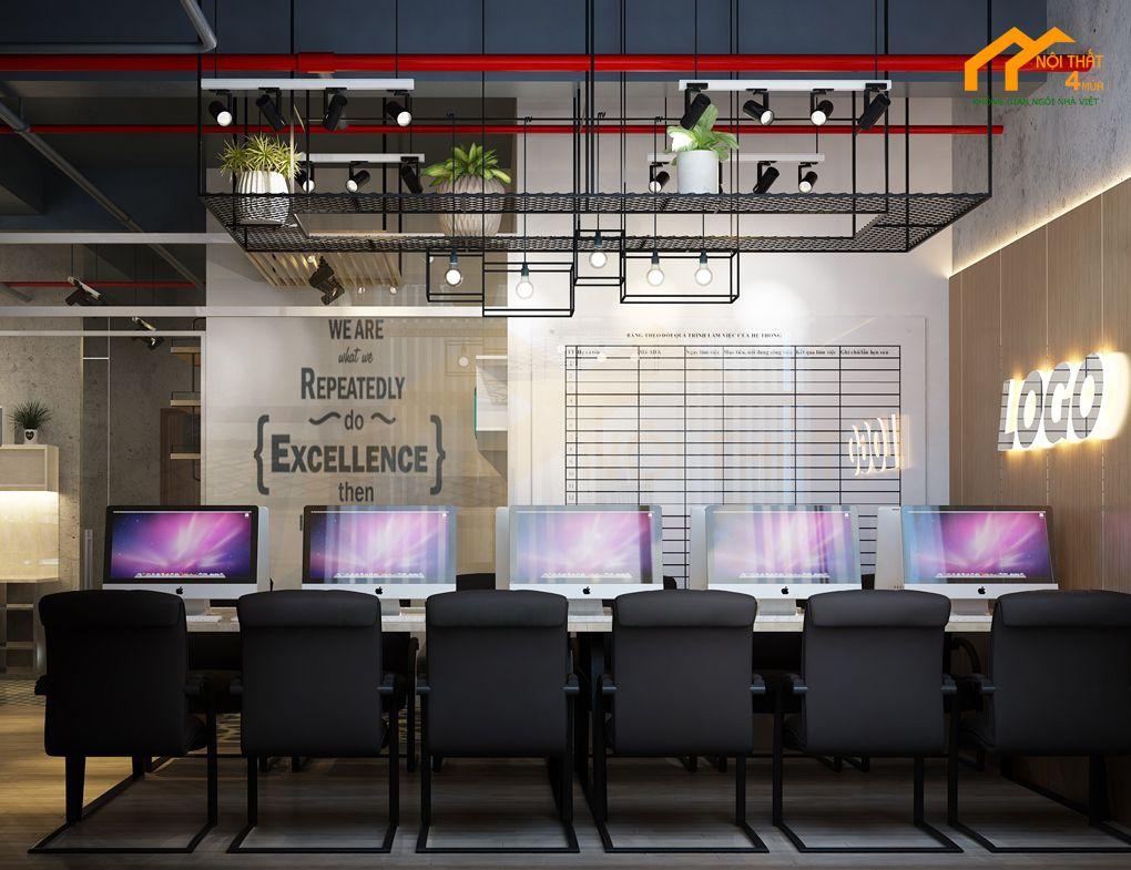 Mẫu văn phòng hiện đại nhỏ 50m2 đẹp