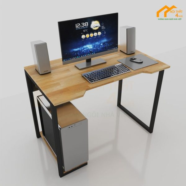 bàn máy tính gỗ cao su