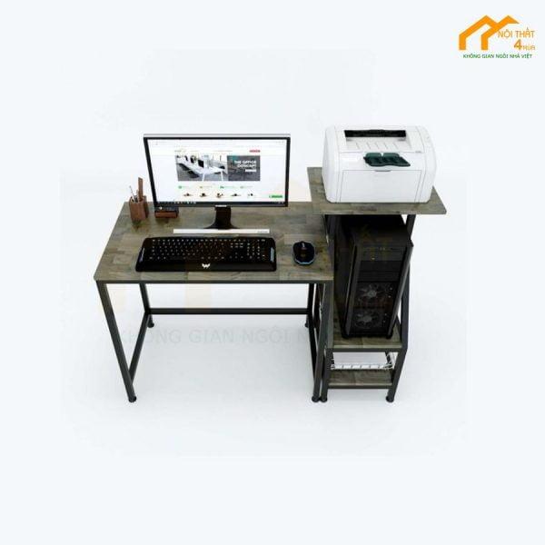 bàn máy tính kết hợp CPU và máy in