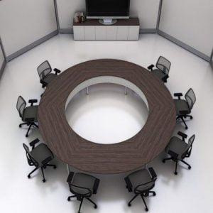 Bàn họp tròn văn phòng hiện đại