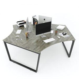 Mẫu cụm bàn làm việc 3 người hiện đại